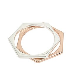 Kenneth Cole® Geometric Bangle Bracelet Set