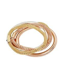 Kenneth Cole® Mixed Metal Stretch Bracelet Set
