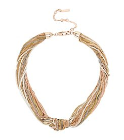 Kenneth Cole® Multi Row Knot Collar Necklace