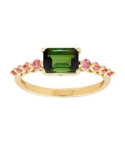10K Yellow Gold Tourmaline Ring