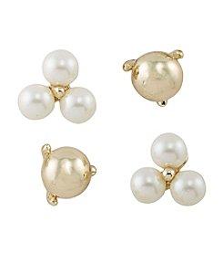 Lauren Ralph Lauren Two Dozen Roses Set of 4 Stud Pierced Earrings