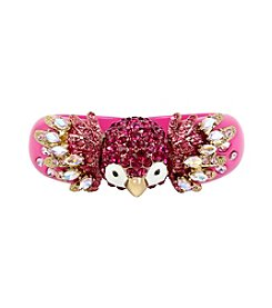 Betsey Johnson® Tropical Pave Parrot Hinged Bangle Bracelet