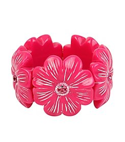 Betsey Johnson® Tropical Flower Stretch Bracelet