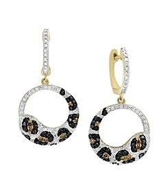 Effy® 14K Yellow Gold 1.24 ct. t.w. Diamond Earrings