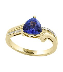 Effy® 14K Yellow Gold with Tanzanite & 0.07 ct. t.w. Diamond Accent Ring