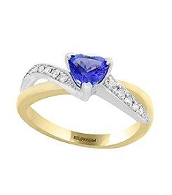 Effy® 14K White And Yellow Gold Tanzanite And .13 ct. t.w. Diamond Ring