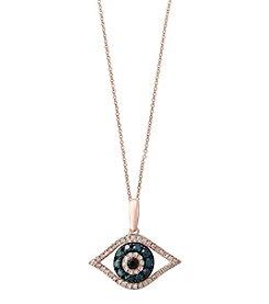 Effy® 14K Rose Gold Diamond Pendant