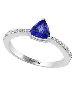 Effy® White Gold Tanzanite .13 ct t.w. Diamond Ring