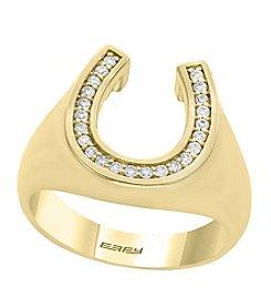 Effy® Men's 0.23 ct. t.w. Diamond Horseshoe Ring