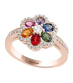 Effy® 14K Rose Goldtone Multi Stone Ring