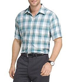 Van Heusen® Men's Big & Tall Short Sleeve Plaid Button Down Shirts