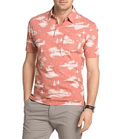 Van Heusen® Men's Big & Tall Short Sleeve Island Print Polo Shirt