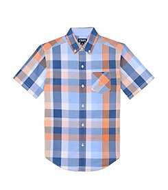 Chaps® Boys' 8-20 Short Sleeve Plaid Woven Shirt