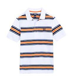 Chaps Boys' 8-20 Short Sleeve Pique Stripe Polo