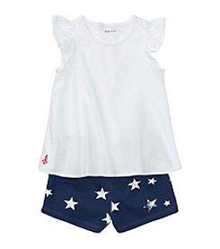 Ralph Lauren® Baby Girls' 2 Piece Top And Shorts Set