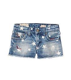 Ralph Lauren Childrenswear Girls' 2T-6X Star Print Denim Shorts