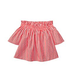 Polo Ralph Lauren® Girls' 2T-6X Striped Off Shoulder Top