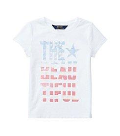 Polo Ralph Lauren® Girls' 2T-6X Short Sleeve Jersey Graphic Tee