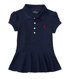 Polo Ralph Lauren® Girls' 2T-6X Short Sleeve Stretch Peplum Polo Shirt
