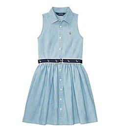 Polo Ralph Lauren Girls' 7-16 Chambray Shirt Dress