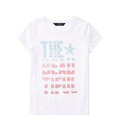 Polo Ralph Lauren® Girls' 7-16 Short Sleeve Jersey Graphic Tee