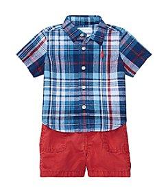 Ralph Lauren® Baby Boys 2 Piece Shorts Set