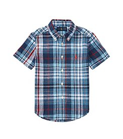 Polo Ralph Lauren® Boys' 2T-7 Short Sleeve Plaid Shirt