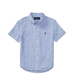 Polo Ralph Lauren® Boys' 2T-7 Short Sleeve Striped Buttondown Shirt