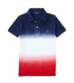 Polo Ralph Lauren® Boys' 2T-4T Short Sleeve Dip-Dyed Polo Tee