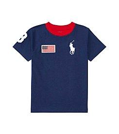 Polo Ralph Lauren® Boys' 2T-7 Short Sleeve Big Pony Crewneck Tee