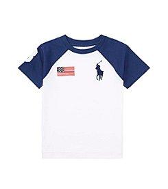 Polo Ralph Lauren® Boys' 2T-7 Short Sleeve Cotton Jersey Crewneck Tee