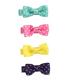 Carter's® Baby Girls' 4-Pack Dot Bow Hair Clips