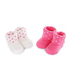 Carter's® Baby Girls' 2-Pack Dot Keepsake Booties