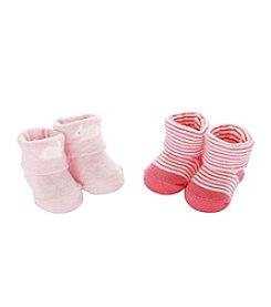Carter's® Baby Girls' 2-Pack Bunny Keepsake Booties
