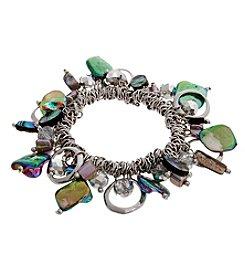 Erica Lyons® Silvertone Simulated Abalone Shaky Stretch Bracelet