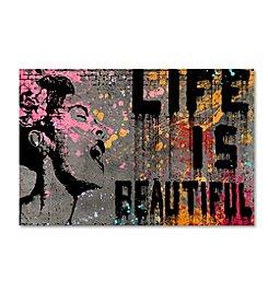 Trademark Global Fine Art Banksy 'Life is Beautiful' Canvas Art