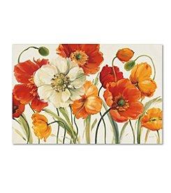 Trademark Global Fine Art Lisa Audit 'Poppies Melody I' Canvas Art