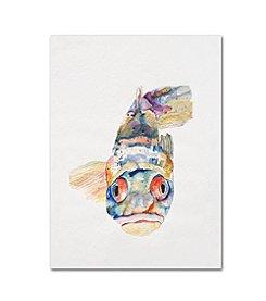 Trademark Global Fine Art Pat Saunders-White, 'Blue Fish' Canvas Art