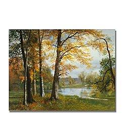 Trademark Global Fine Art Albert Biersdant 'A Quiet Lake' Canvas Art