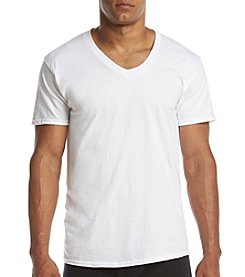 Hanes® Men's Ultra Comfort V-Neck T-Shirt