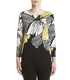 Alfred Dunner® Petites' Dramatic Floral Sweater