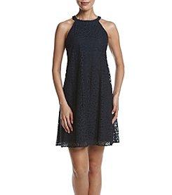 Taylor Dresses Lace Halter Shift Dress