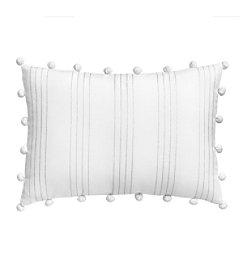 Jill Rosenwald Capri Stripe L Vertical Stripe Decorative Pillow