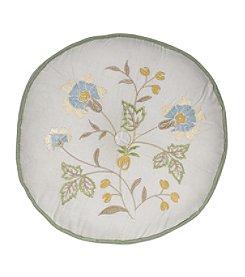 Nostalgia Home Auburn  Round Embroidered Cream Decorative Pillow