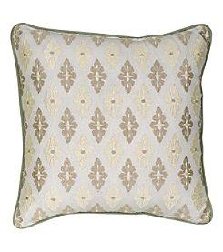 Nostalgia Home Auburn  Square Embroidered Cream Medallion Decorative Pillow