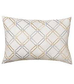 Nostalgia Home SBrownton Stripe Embroidered Decorative Pillow