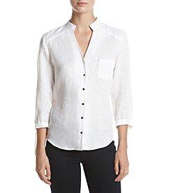 Ivanka Trump® Button Front Blouse
