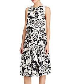 Lauren Ralph Lauren® Petites' Floral-Print Keyhole Dress