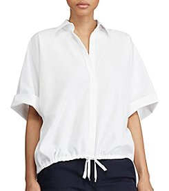 Lauren Ralph Lauren® Drawstring Cotton Shirt
