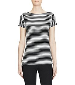 Lauren Ralph Lauren® Striped Cotton Boatneck Tee